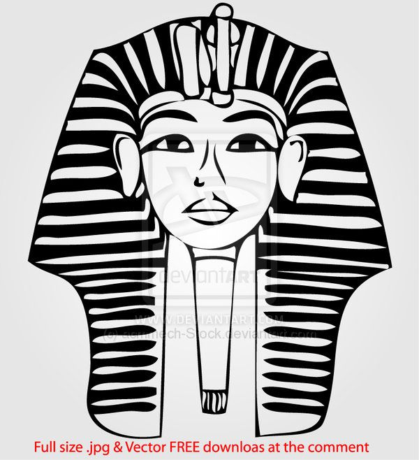 king tut mask template - king tut sketch vector by acmmech on