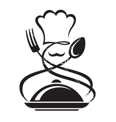 Chef+hat+with+spoon+and+fork+vector+on+VectorStock