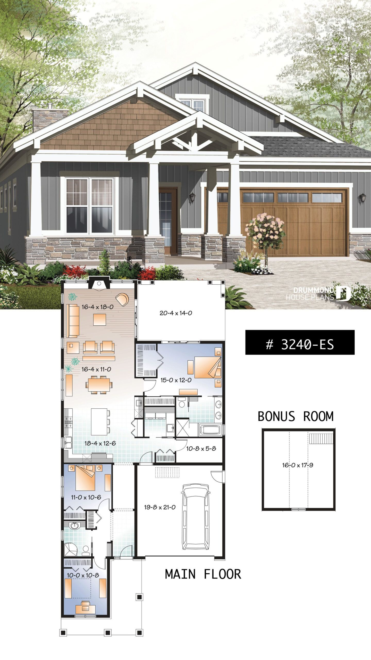 Bungalow House Plans With Terrace In 2020 Craftsman Bungalow House Plans Bungalow Floor Plans Craftsman House Plans