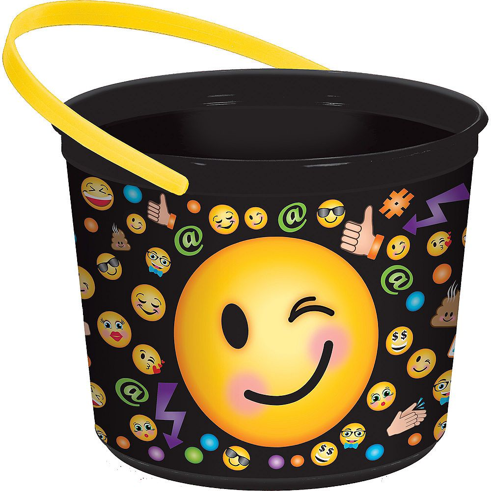 Smiley Favor Container Image 1 Favor container, Wicker