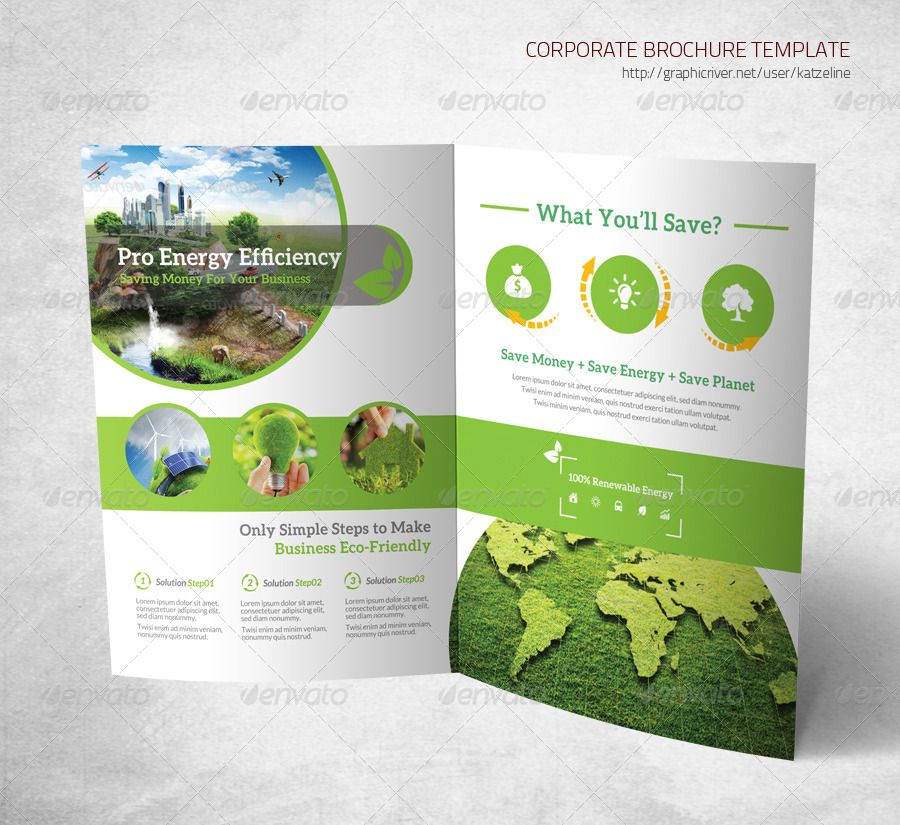Energy Saving Corporate Bifold Brochure  Brochures Creative