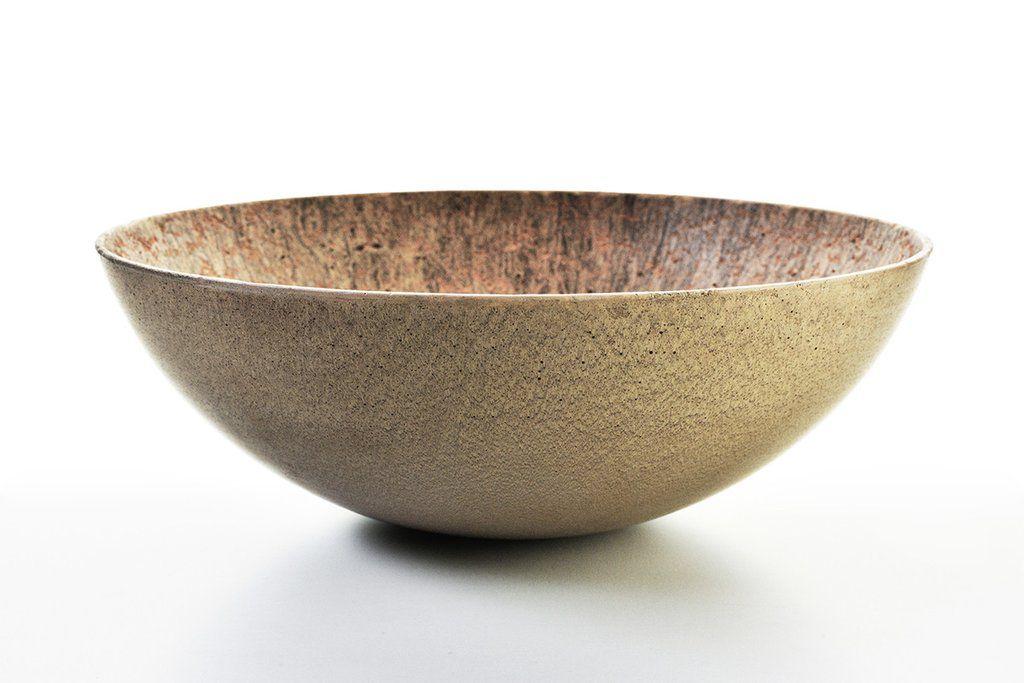 graveli gold concrete bowl glazed concrete bowl concrete rh pinterest com