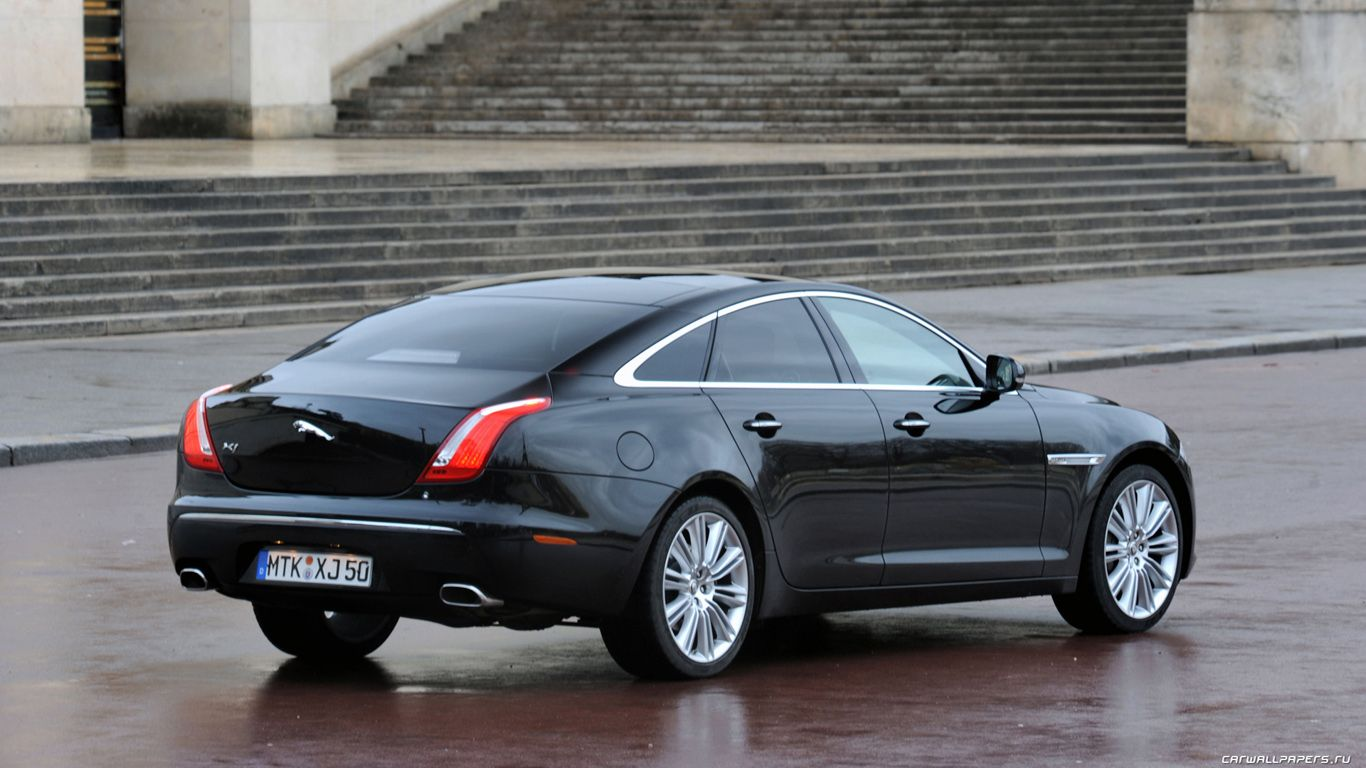 Elegant Black Jaguar Car