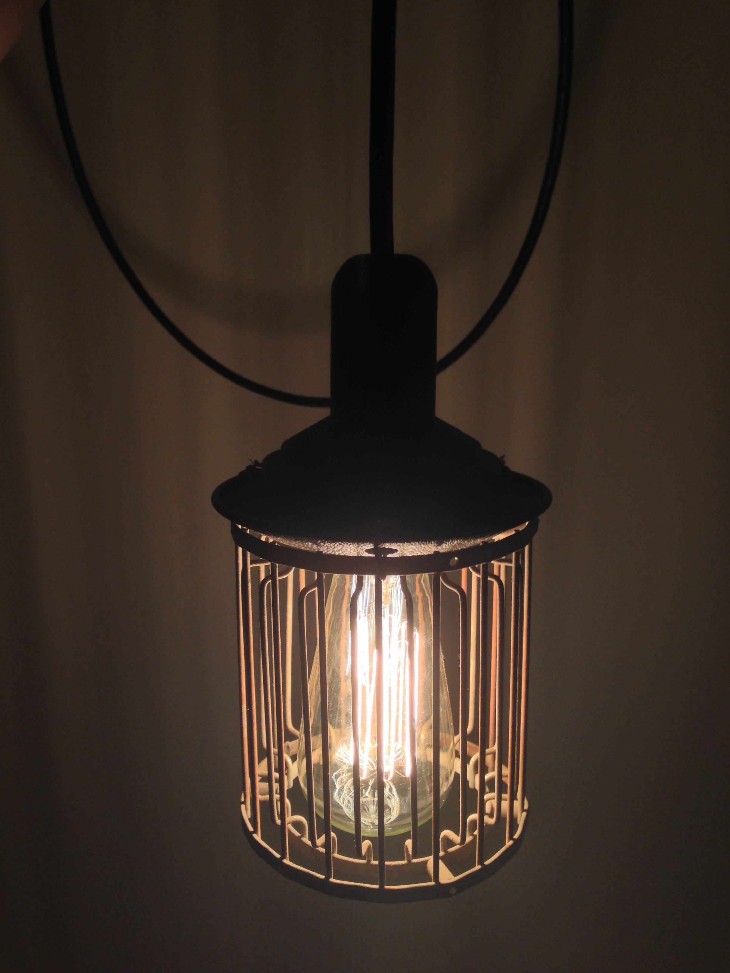 Repurposed bug zapper for pendant light