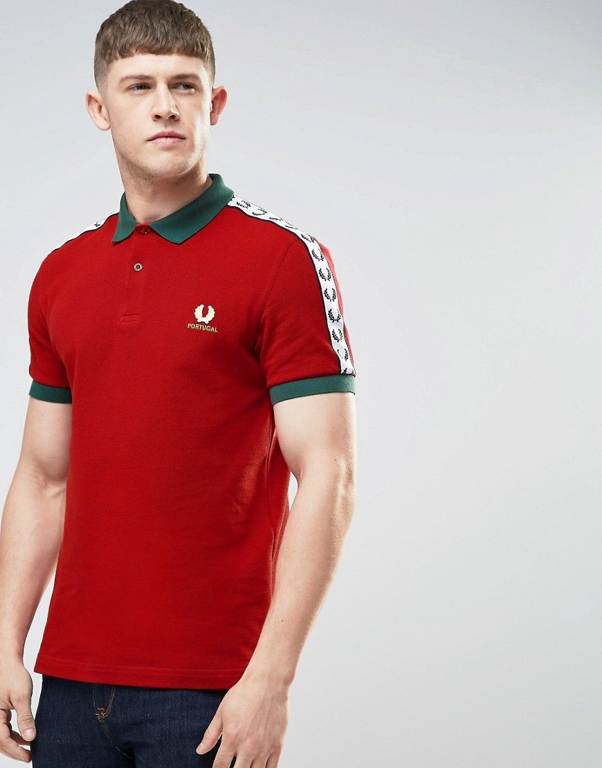 77c0d3e49 Fred Perry Portugal Polo Shirt In Red