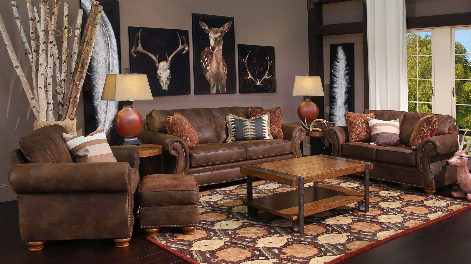 laramie brown living room collection furniture ranch pinterest rh pinterest co uk