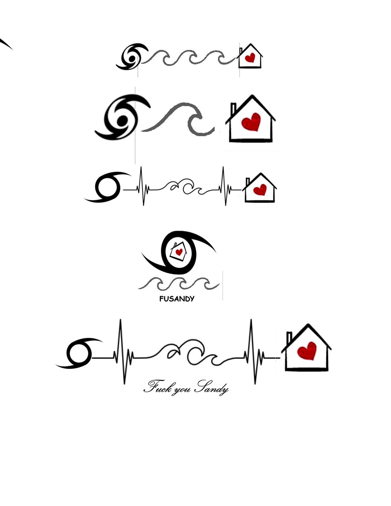 Custom Hurricane Tattoo Ideas Hurricanesandy Fusandy Inkideas Hearthome Waves Heartbeats Hurricane Tattoo I Tattoo Tattoos