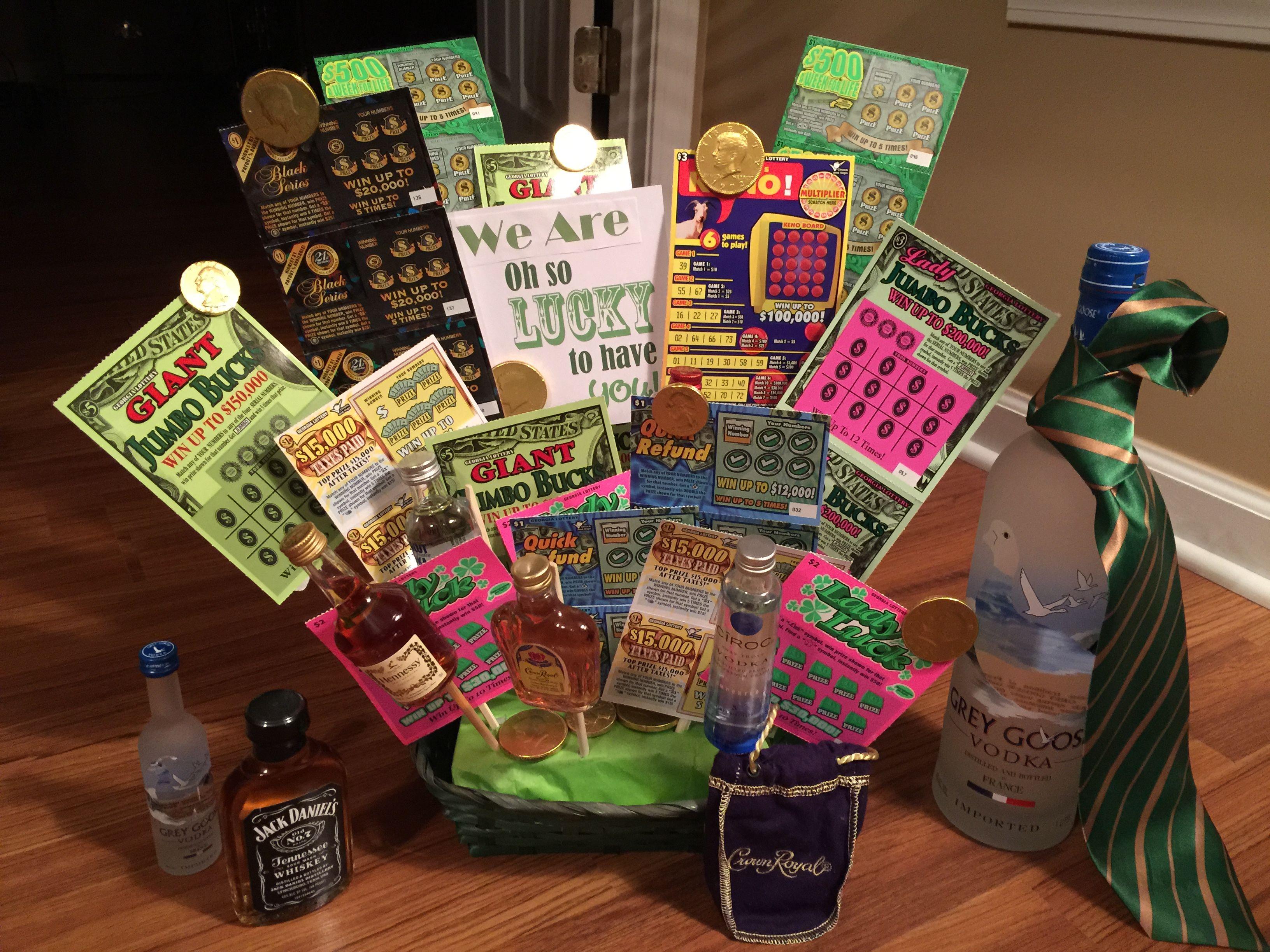 Lucky Casino Theme Birthday Gift Basket