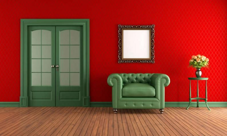 Resultado De Imagen Para Combinar Color Rojo En Paredes Habitaciones Rojas Decoracion Paredes Cuadros Pared De La Familia