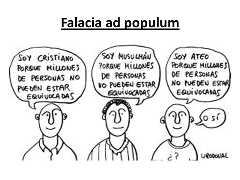 Resultado de imagem para argumentum ad populum español