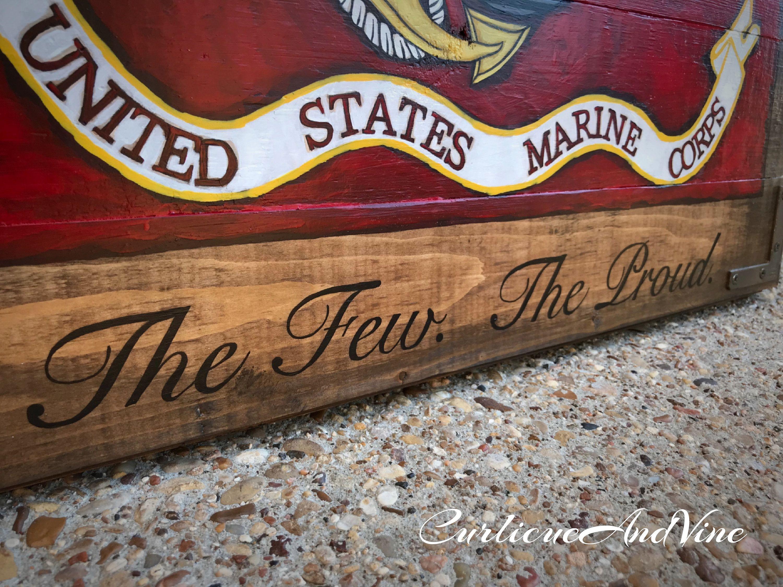 Usmc Man Cave Ideas : United states marine corps flag usmc pallet board military semper