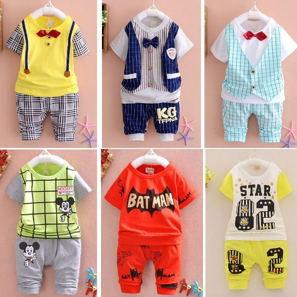 d617f624c888 2015 New Summer baby Sport suit 100% cotton fashion design baby boys ...