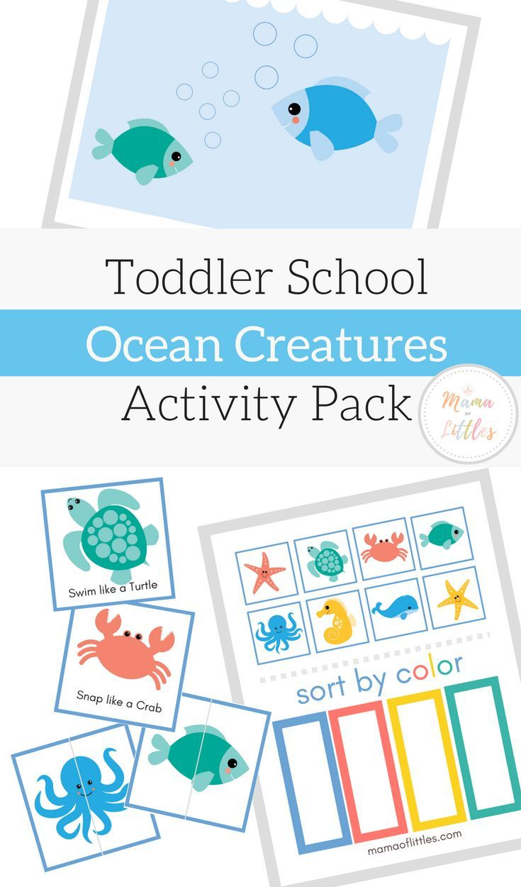 Exploring the ocean and beach with sea themed toddler activity ...