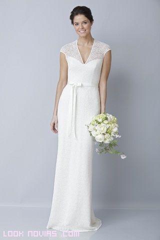 vestidos de novia sencillos con mangas - Buscar con Google | Bodas ...