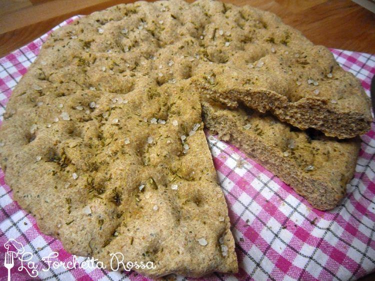 La Forchetta Rossa: Focaccia con farina integrale e semi di chia