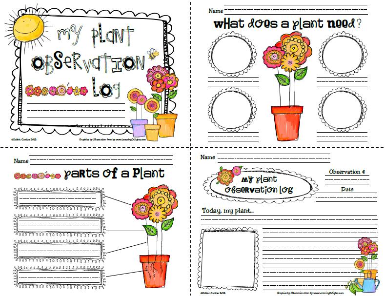 Preschool Plant Journals Template