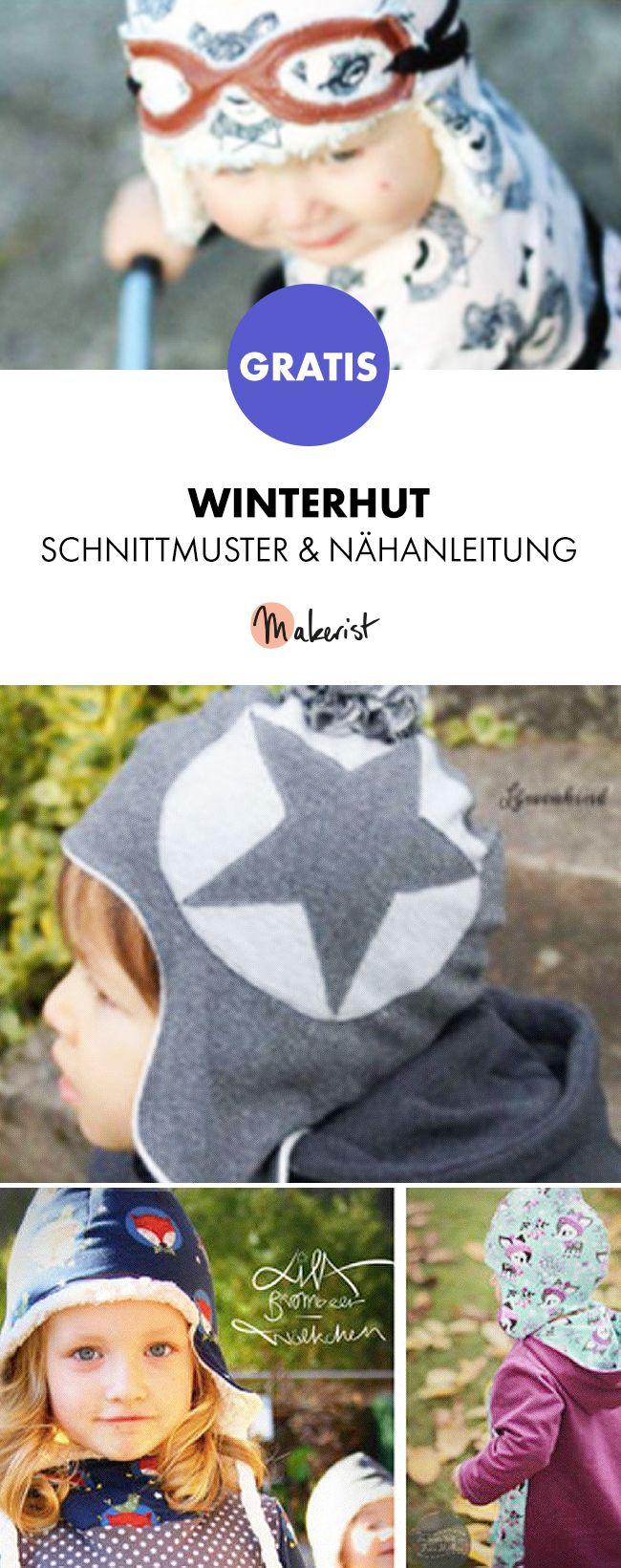 Gratis Anleitung: Warme Wintermütze nähen - Schnittmuster und ...