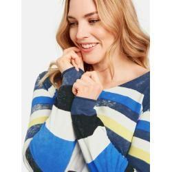 Photo of Pullover im lässigen Streifen-Design Blau Gerry Weber