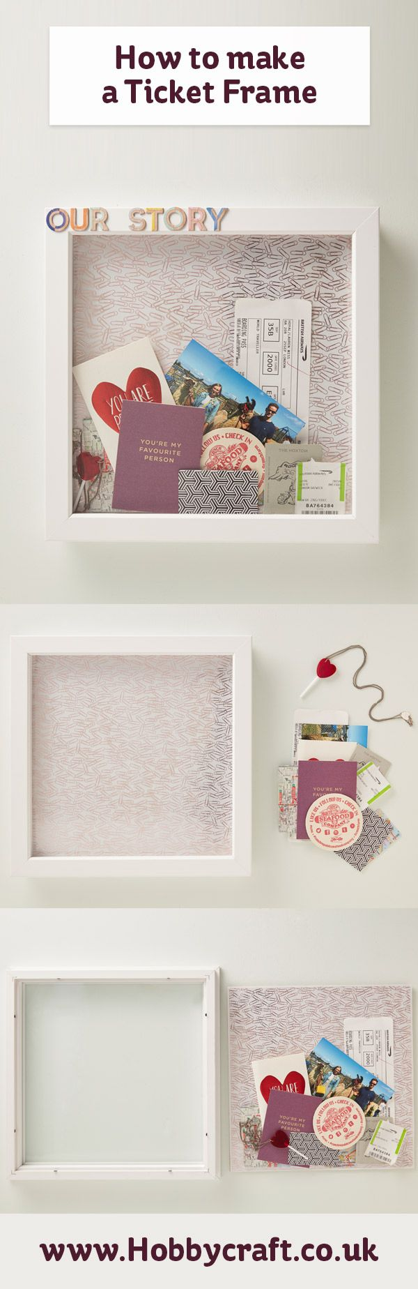 How to Make a Ticket Box Frame | Pinterest | Ticket boxes, Easy ...
