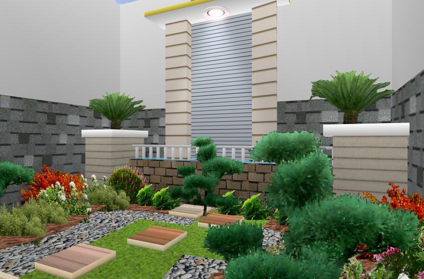 memiliki taman minimalis terbaru desain
