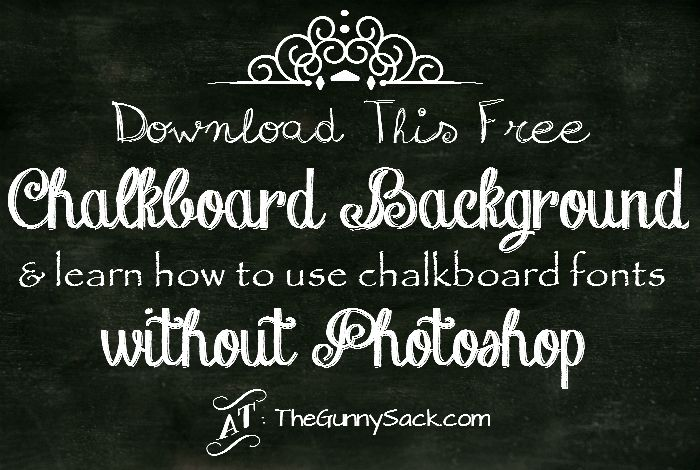 download this free chalkboard background and learn how to use