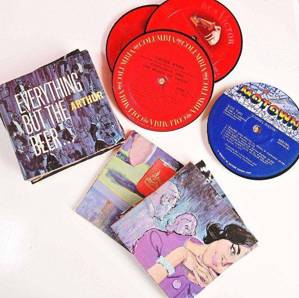 Diy Up Cycled Record Coasters Handmade Gifts Diy