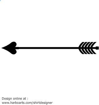 arrow tip heart shape silhouette vector graphic pink. Black Bedroom Furniture Sets. Home Design Ideas