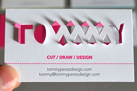 Tommy\u201d Paperkut Business Card Paperspecs Business Cards