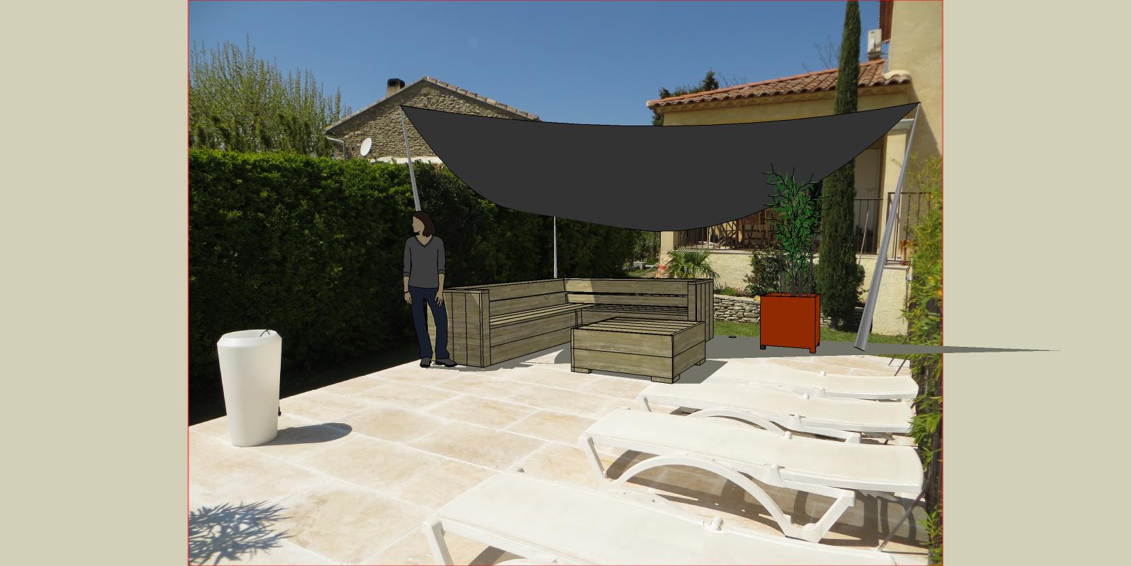 Intégration mobilier 3D  DDPB sur photo
