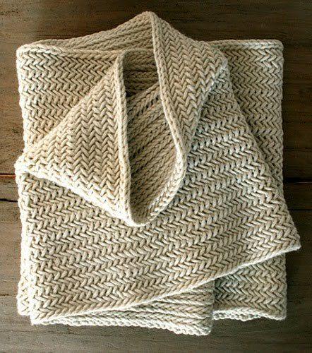 Herringbone Infinity Scarf :: Free Knitting Pattern ...