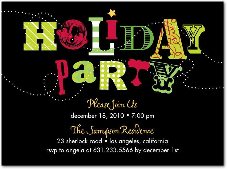 Holiday Party Invitations Wedding Stationery Wednesday