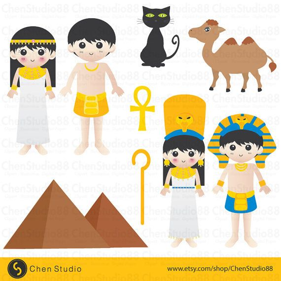 Ancient Egypt vector Digital Clipart Instant by ChenStudio88
