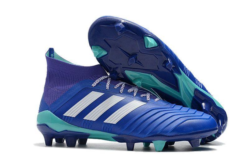 huge discount 2afbf d3597 Men Lightest Adidas Predator 18+ FG 2018 World Cup Football Boots Royal  White Purple Green