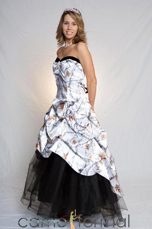 camouflage prom dresses   snow camo camouflage snow camouflage ...