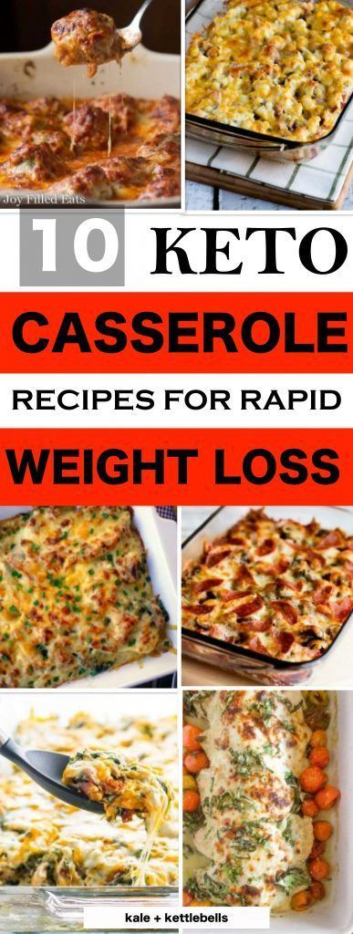 10 Delicious Keto Casserole Recipes for Weight Loss These are the BEST Keto casserole recipes, quick and easy low carb recipes, healthy recipes for ketogenic diet and clean eating, family and kid friendly.