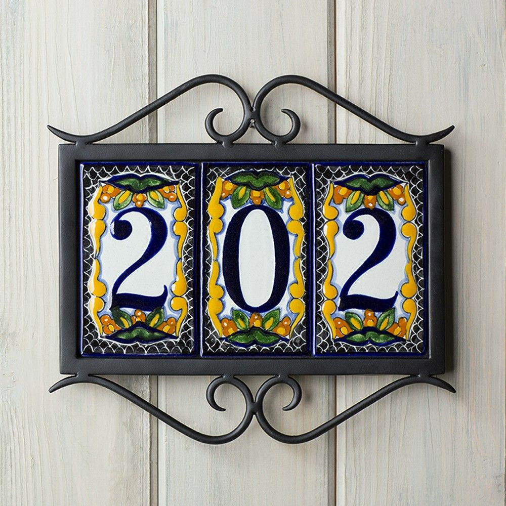 Tile Plaques Home Decor Classic House Number Plaque  Address Plaque Frames  Home Decor