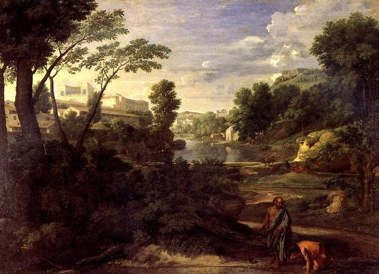 ПУССЕН НИКОЛА Пейзаж с Диогеном, 1648 | Les arts, Art et ...