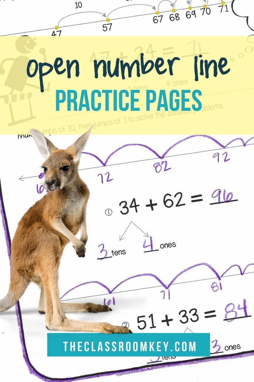 Open Number Lines Open Number Line Number Line Teaching Addition Open number line addition