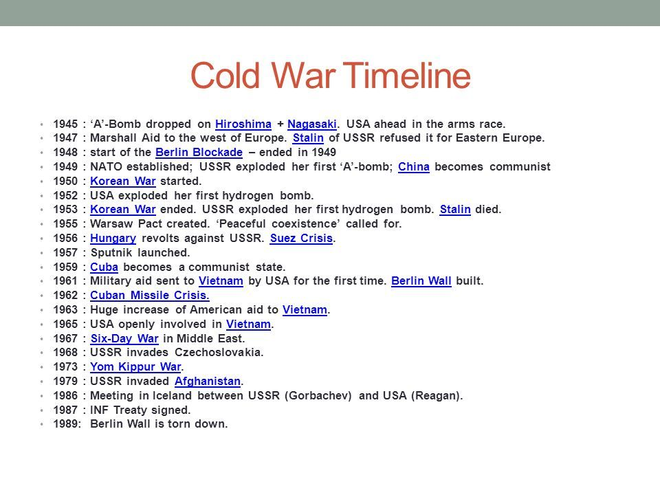 cold war time line | Cold War | Pinterest | War and Cold war