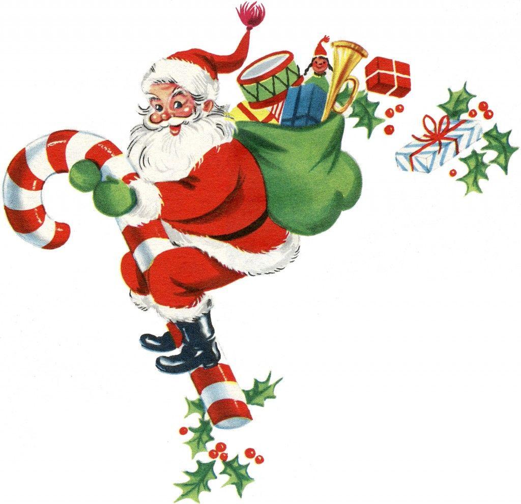 9 Free Vintage Clip Art - Santa, Santa, Santa! | Retro ...
