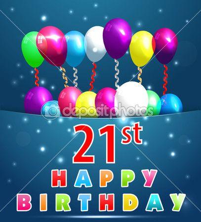 c29c0f2ca tarjeta del feliz cumpleaños con globos y cintas