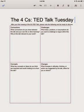 Middle School Mayhem: Analyzing TED Talks | Historia | Pinterest