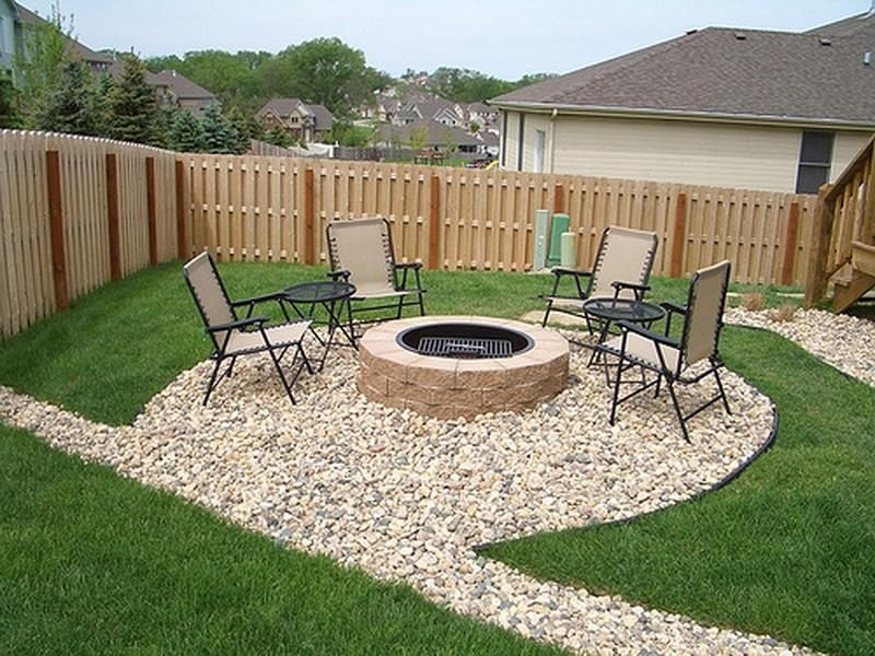16 simple but beautiful backyard landscaping design ideas ... - Patio Designs With Fire Pit Pictures