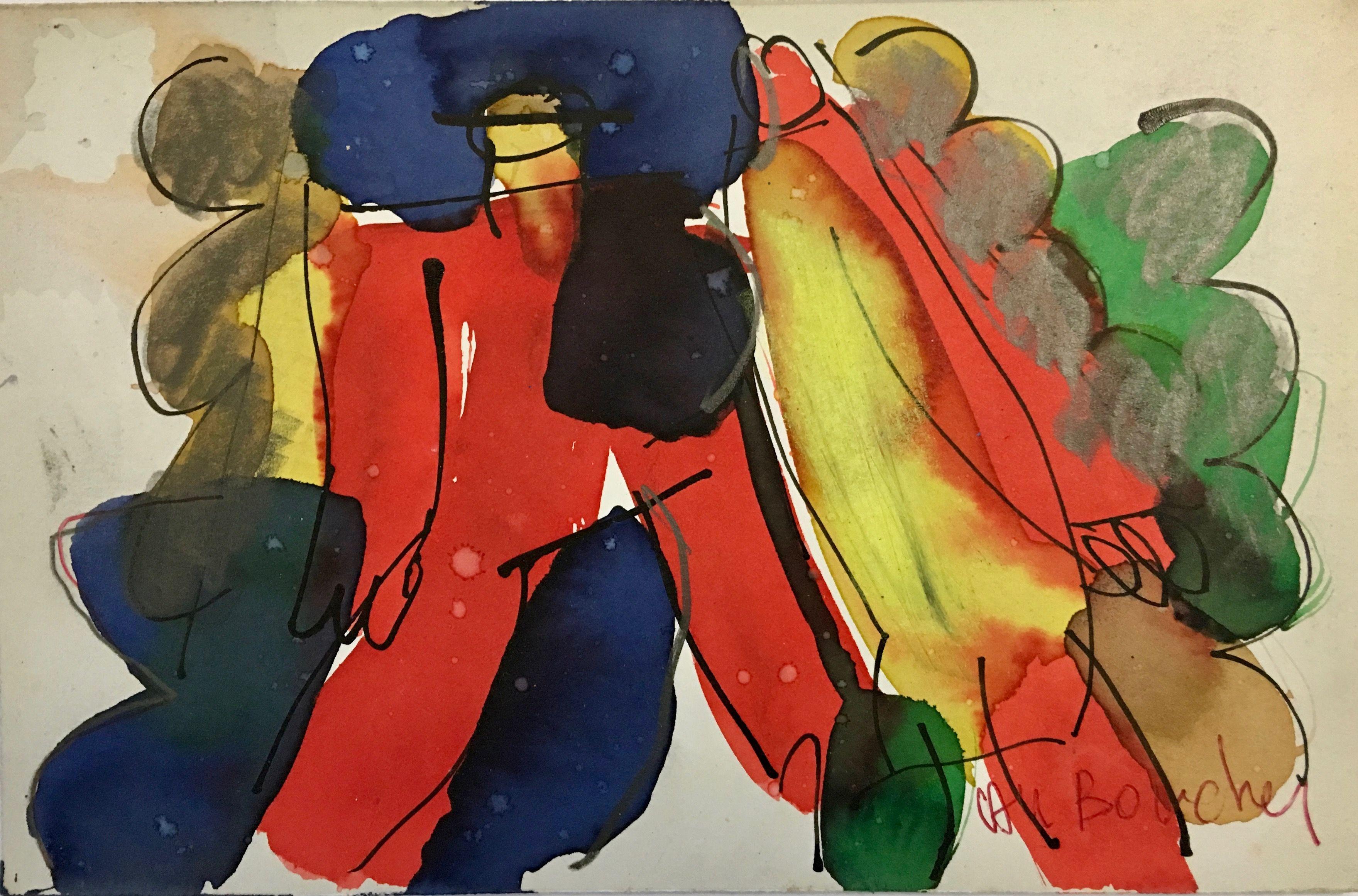 Personnages Imaginaires Est Une Peinture Originale A La Gouache 12 X 19 Cm De Alain Michel Boucher Q Peinture Originale Personnage Imaginaire Comment Peindre