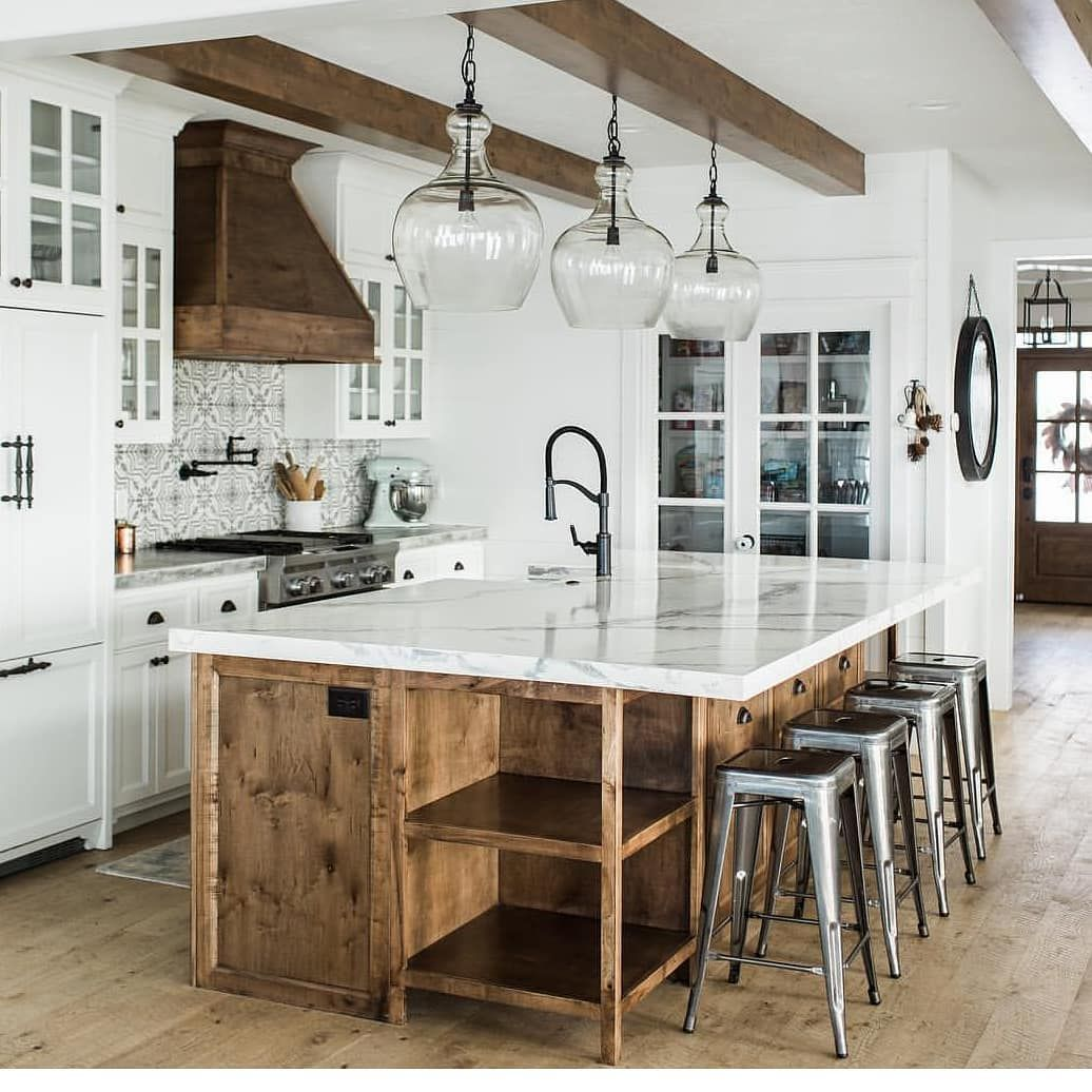 "Farmhouse Stylebook on Instagram: ""Kitchen perfection. Come and browse our page for more. 👀👀👀👀 Source: @whitesparrowfarm  #farmhouse #farmhousedecor #farmhousebedroom…"""