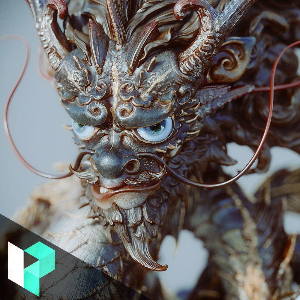 Sculpting & Texturing a Chinese Dragon Zhelong Xu