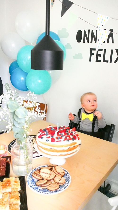First bday party.