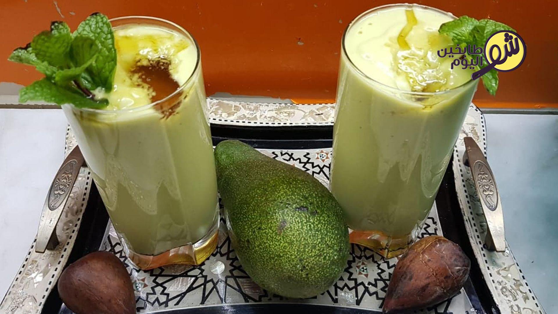 كوكتيل او عصير الأفوكادو السهل شو طابخين اليوم Juicing Recipes Glass Of Milk Recipes