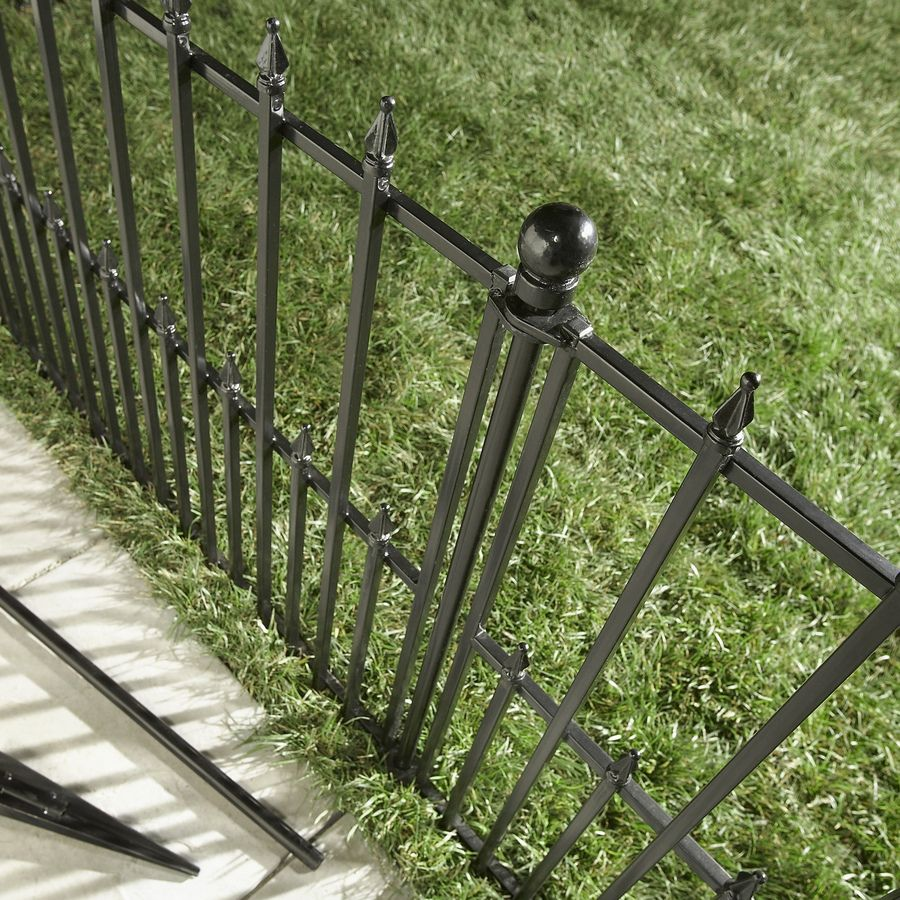 shop no dig steel fence panel common 29in x