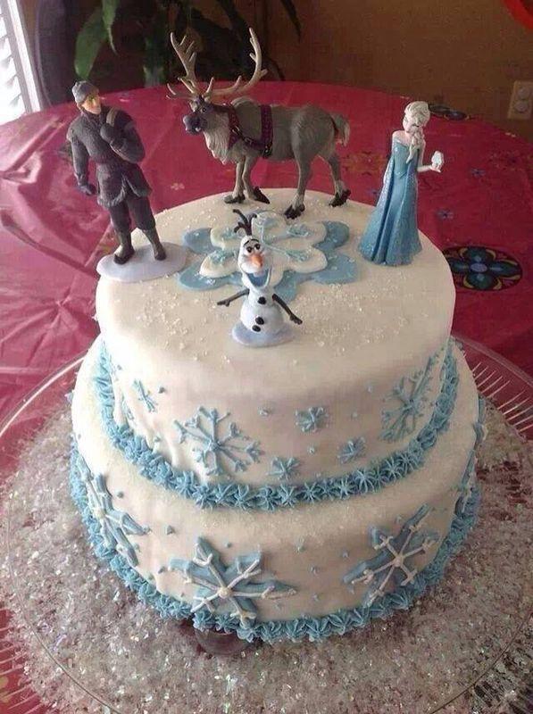 diy frozen birthday cake via christa lousberg birthday ideas